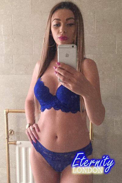 34B Naughty Skinny Petite Figure London Escort Carla